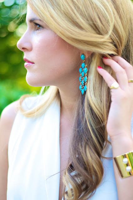 Bauble Bar turquoise earrings