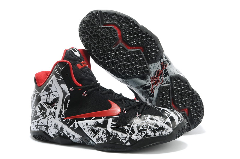 Nike LeBron 11 BlackRedWhite Basketball ShoesJordans 11 For Sale