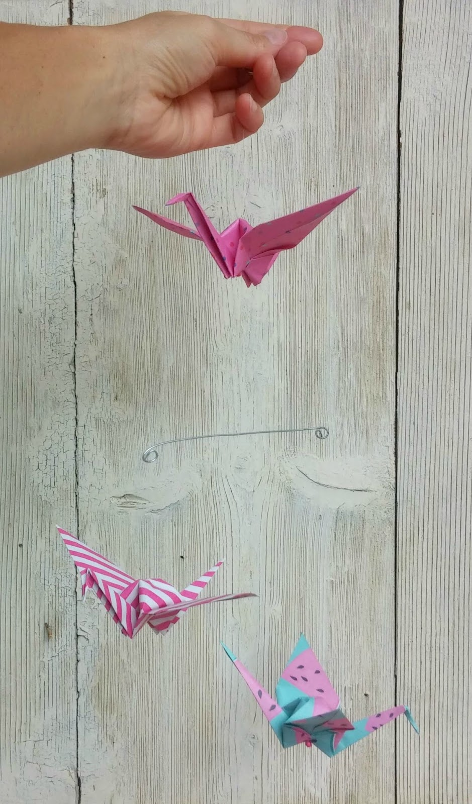 origami crane mobile instructions