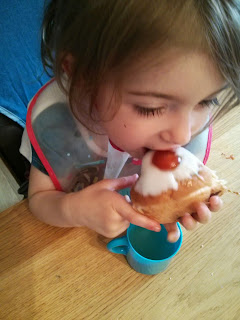 Eldest enjoys her cake