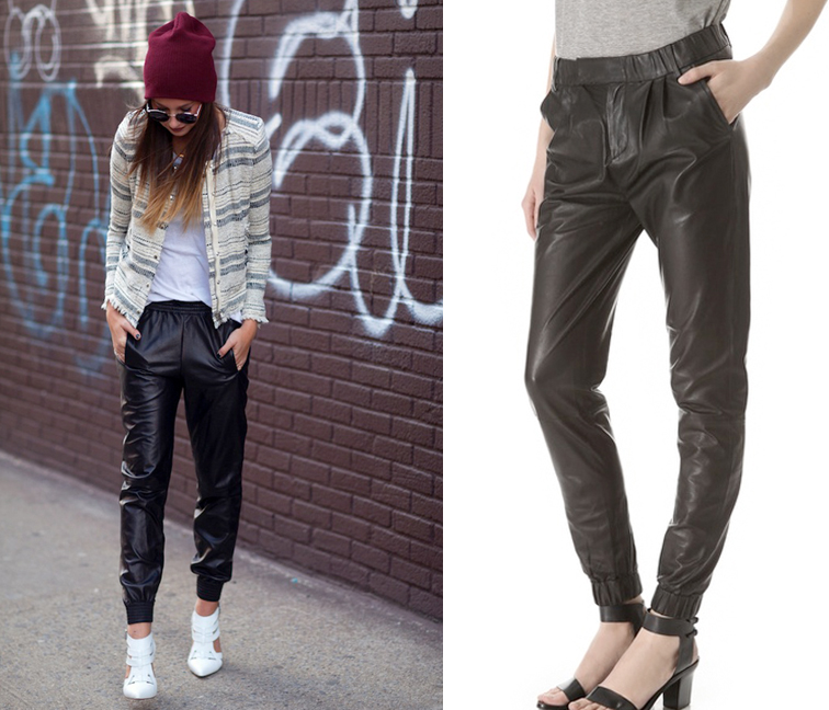 Baggy Leather Pants J Brand Blair We Wore What