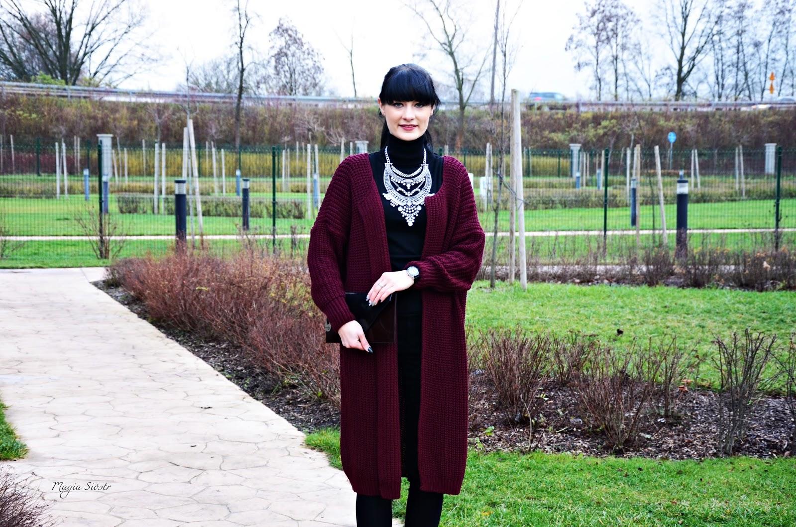 kardigan, płaszcz jesienny