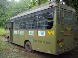 """B.N.H.S"" tour bus ""Bogged"" in the mud."