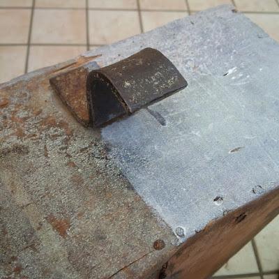 restyling di vecchia scatola di legno cerusè