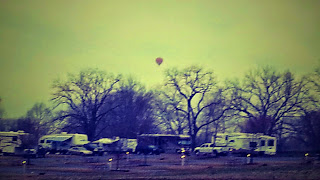 Hot Air Balloons Overhead