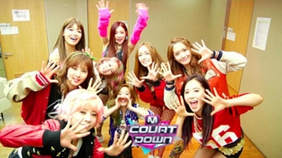 SNSD Sebelum Perform Di M! Countdown