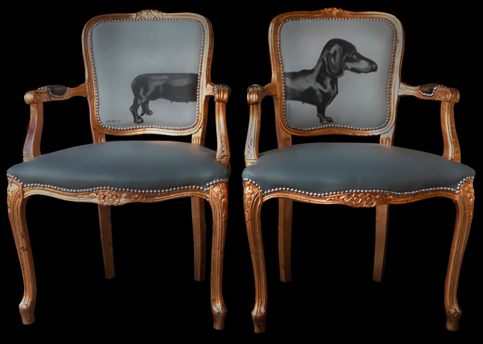 gafunkyfarmhouse this 39 n that thursdays dog print chairs