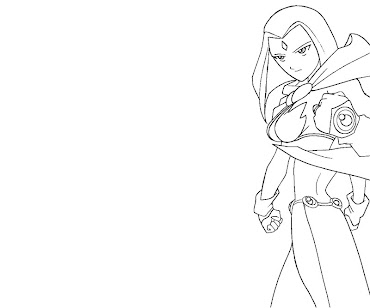 #3 Raven Coloring Page