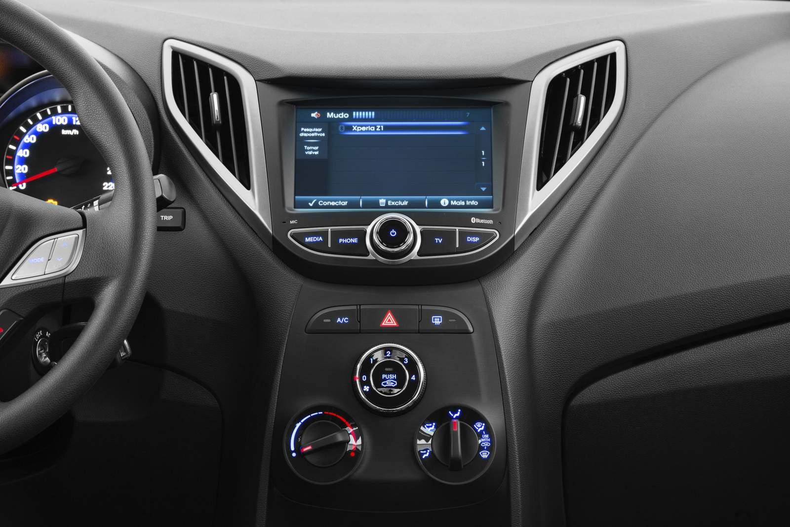 Hyundai HB20 2015 Spicy - central multimídia
