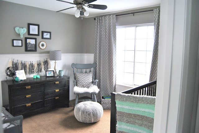 curtains, curtain panels, grey curtains, gray curtains, zgallerie curtains, teal curtains, teal drape, gray drape, grey drape, how to hang drapes, how to hang curtains, teal chair, world market chair, vittsjo, studio 7 interior design, window treatments