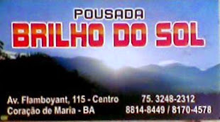 Pousada Brilho do Sol 75 81704578 ou 32482312