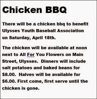 4-18 Chicken BBQ Ulysses