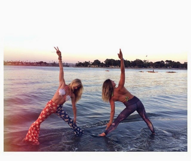 how to follow a yoga challenge on instagram