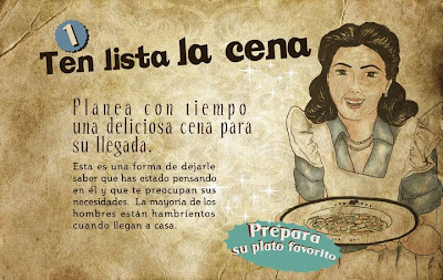 """""""Guía de la buena esposa - 11 reglas para mantener a tu marido feliz"""" - supuestamente publicado en 1953 por la Sección Femenina de Falange Española de las JONS Image2"""