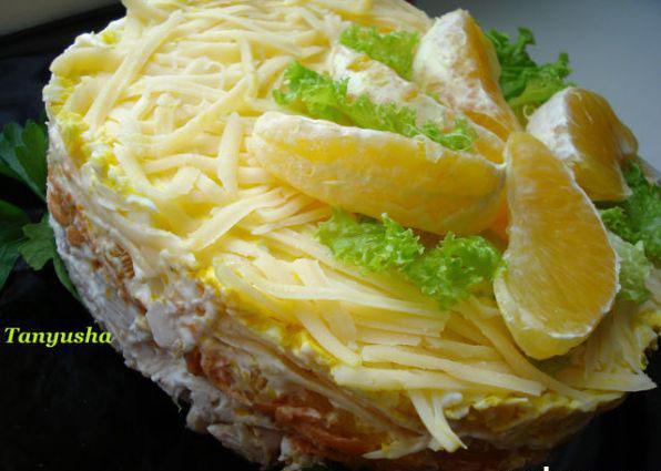 Салат Курица с апельсином