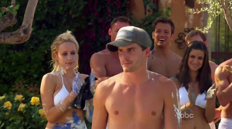 Michael Stagliano Shirtless in Bachelor Pad s2e02