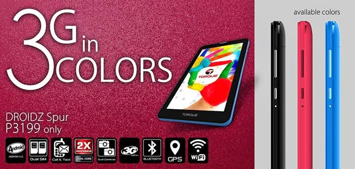 Torque DROIDZ Spur Tablet Specs, Price and Availability