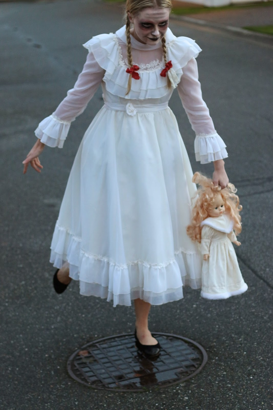 creepy little girl costume
