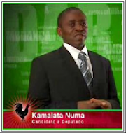 Kamalata Numa protesta com a boca fechada