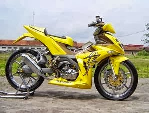 Modifikasi Motor Suzuki Smash Kuning