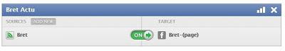 synchronisation des flux RSS vers votre page Facebook.