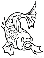 Gold Fish Printable Coloring Pages