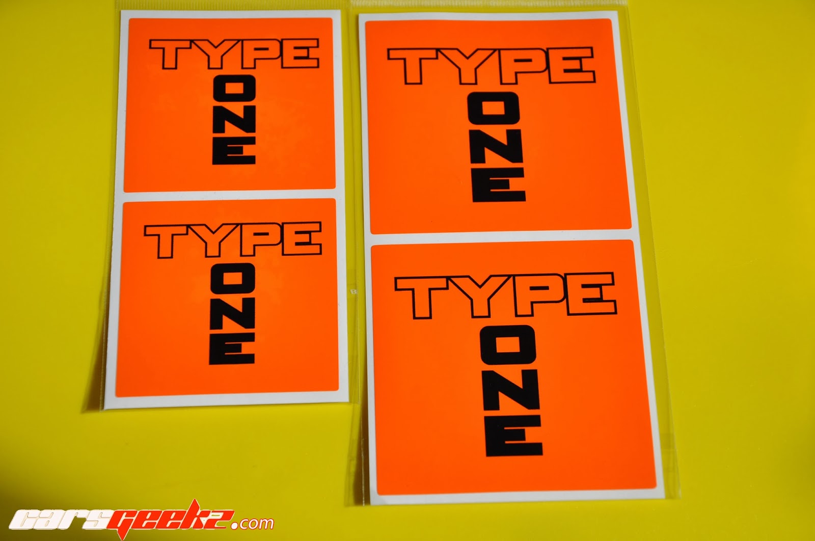 Type One Honda sticker