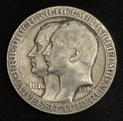 German States Coins Prussia 3 Mark Silver Commemorative coin