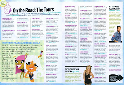 Entertainment Weekly, Summer Tours 2011