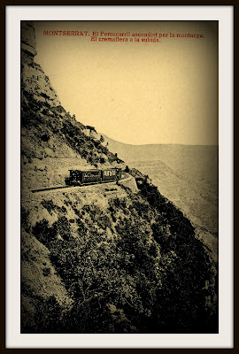 cremallera tren montserrat monasterio