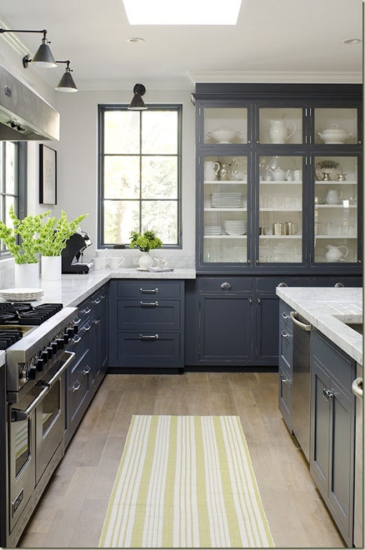 Black And White Is Truly A Natural With Some Wood Accents As You Can See Here In This Half And Half Kitchen Kind Of Reminds Me Of My Favorite Black And
