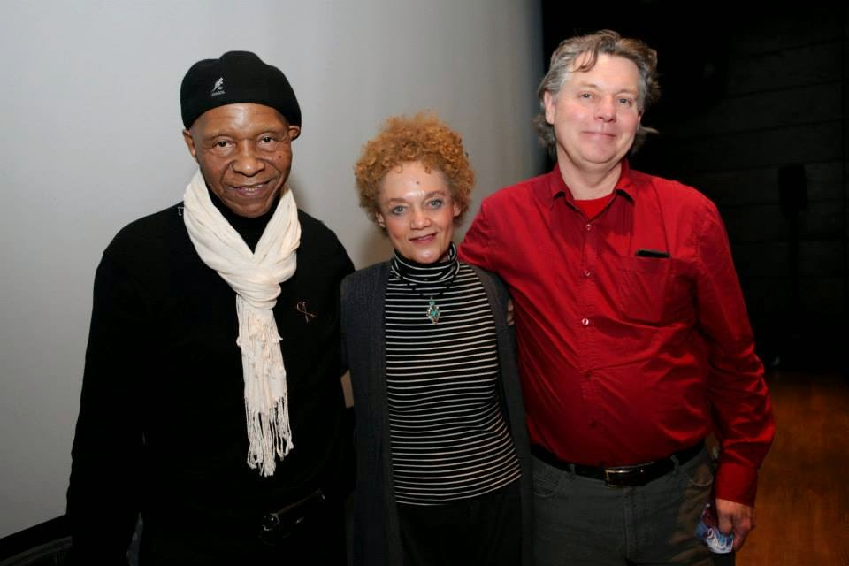 Robert King and Ron Harpelle w/ Kathleen Cleaver at the Montreal Black Film Festival.