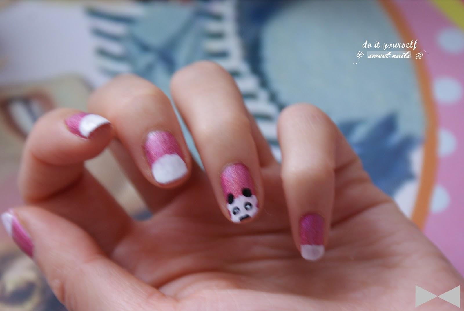 7 tuto nail art panda amelie 39 s workshop. Black Bedroom Furniture Sets. Home Design Ideas