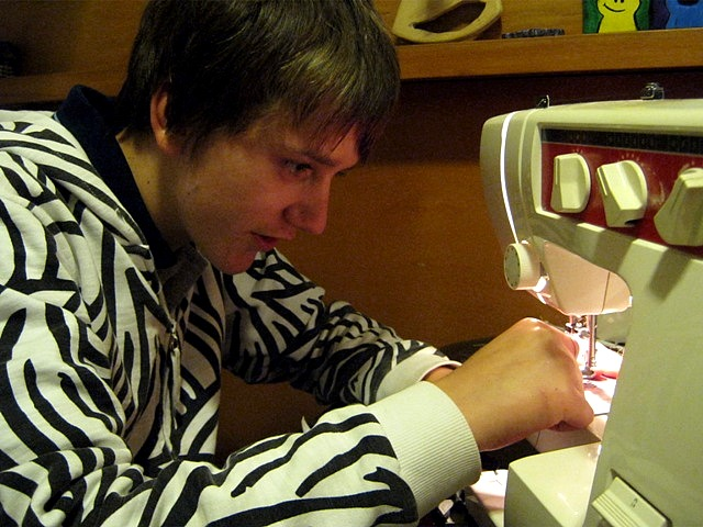 ... then a teen boy sewing a cute puppy dog for his girlfriends birthday!