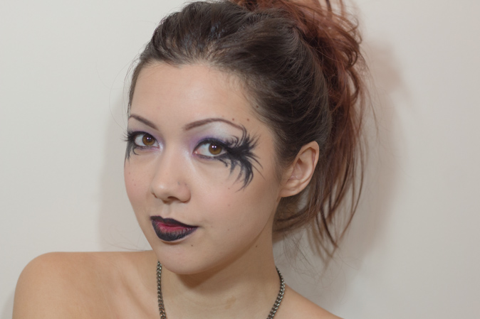 halloween makeup look fallen angel dark fairy