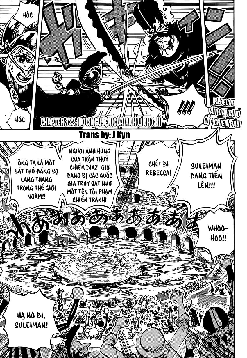 One Piece Chapter 733: Ước nguyện của anh lính chì 002