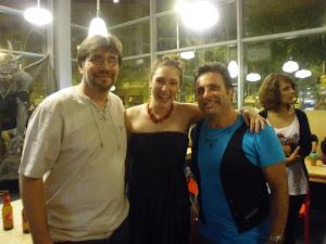 Con Rachel Duval y Óscar camarero