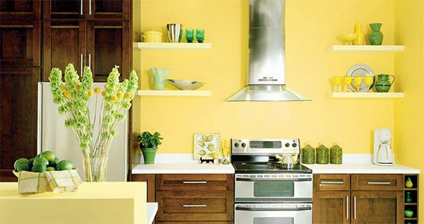11 Great Kitchen Designs with yellow walls and cabinets
