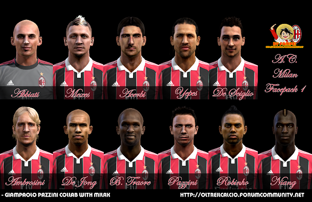 Milan Facepack | 11 Faces - PES 2013