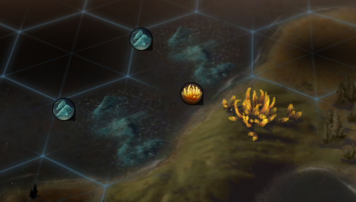 A clump of Firaxite on the world map. Firaxite is integral to Supremacy players.