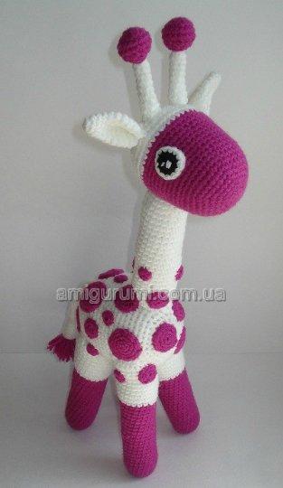 Смотрим схему вязания жирафа