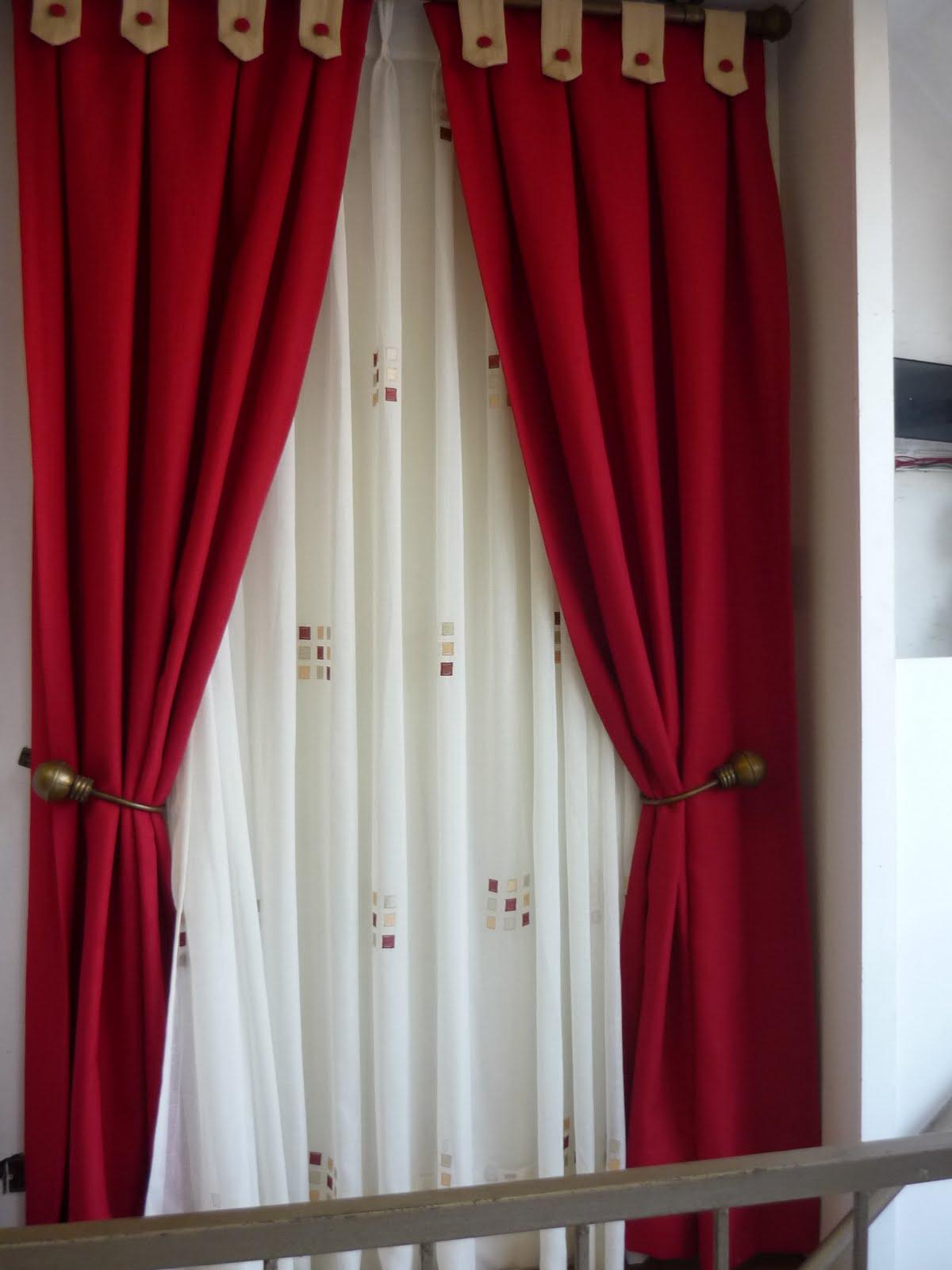 cortinas de bao rojas para la confeccin de estas cortinas una tela tradicional de _ cortinas de bao rojas - Cortinas Rojas