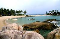 7 tempat wisata pantai yang terkenal di bangka belitung,Pantai Parai Tenggiri