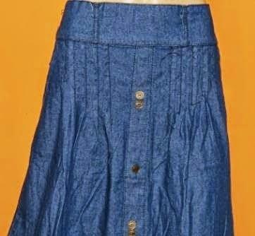 Rok Jeans Panjang Big Size