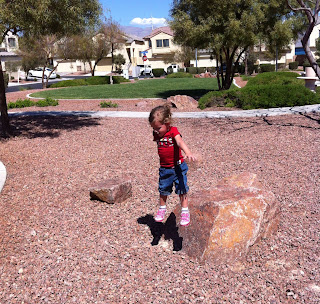 rock jumping toddler