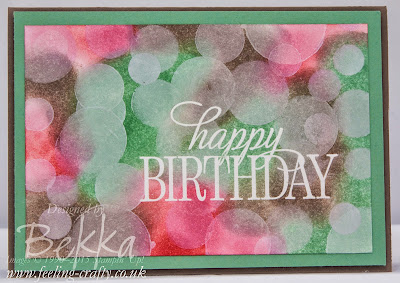 Bokeh Birthday Card featuring the New In Colors From Stampin' Up! UK - get them here