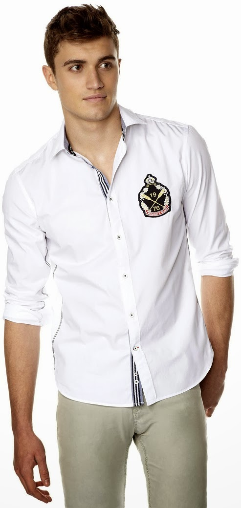 CELIO Menswear regular-fit cotton shirt Spring Summer Collection 2014