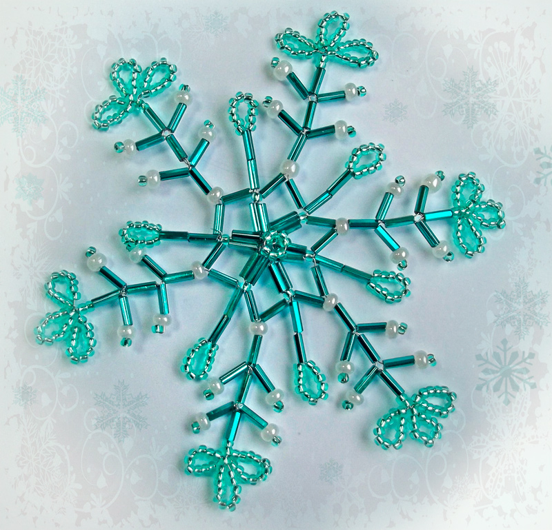 more beaded snowflake tutorials the beading gem s journal