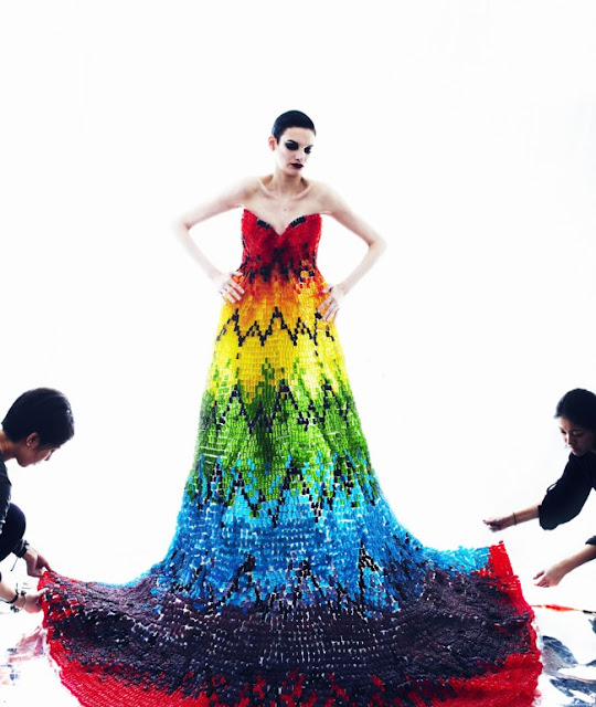 Alexander McQueen, gummy bear dress