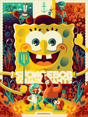 MondoCon 2015 Exclusive SpongeBob Squarepants Screen Print by Tom Whalen & Mondo